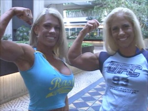 Female mass muscle domination