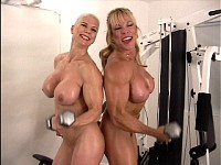Women working out in the nude